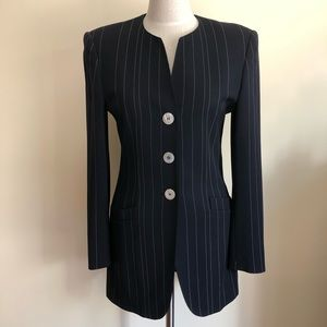 Escada striped skirt suit